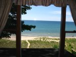 Views of Lake Michigan from the queen bedroom