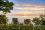 Amazing sunset views of Lake Michigan from Martha`s Cottage