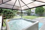 Sunsational hot tub in the backyard for your year round enjoyment