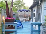 Great deck for relaxing in the evenings or sipping your morning coffee