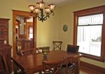 Formal dining room filled with character and charm