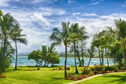 Great view from this newly remodeled Kauai second floor condo at Lae nani