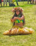 Tahitian dancer at festival