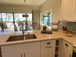 Living / dining area with view of the Wailua Bay