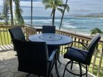 Lanai with commanding view of the bay and beach