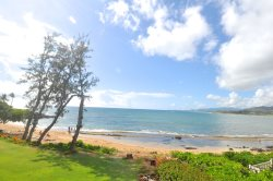 Fantastic view from this third floor condo which overlooks Wailua Bay and the beautiful Pacific Ocean