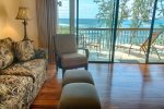 Living area looking out to beach