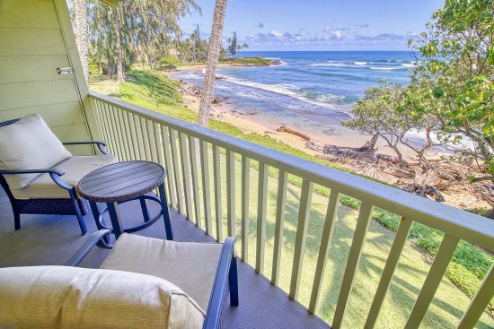 Sit on your back lanai and watch the ocean waves as they lap the beach.