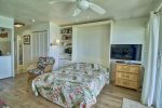 Fall asleep to the sound of the ocean in the comfy Queen murphy bed