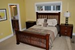 The main level Queen Master Suite is convenient and accessible.