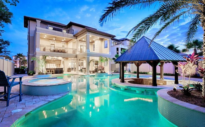 Perfect The Splash: Luxurious 8 Bedroom Home, HUGE Lagoon Pool W/Swim Up Bar,  Outdoor Kitchen, Featuring A Game Room, Elevator, Gulf Views!