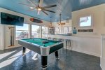 Third Floor Game Room with Pool Table, Bar and Built in Bunks