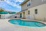 Large Backyard feat. Private Pool, Outdoor Kitchen, BBQ Grill, and Plenty of Seating