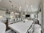 Impeccable light fixtures through-out the home, custom cabinets, and granite counter tops