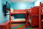 1st Floor Bunk Room with 3 Twin/Twin Bunk Beds, Sleeps 6