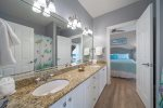 Shared Jack & Jill Bathroom with Double Vanities