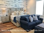 Third Floor Master Suite with a Full Sleeper Sofa, Perfect for Mom, Dad, and the Little Ones