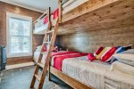 First Floor Bunk Room with Two Sets of Full over Queen Beds, Sleeps 8