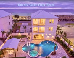 Private Pool, Putting Green, Gulf Views, Waterfall Hot Tub & Close to the Beach!