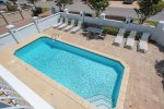 Aphrodite features a large private pool and hot tub