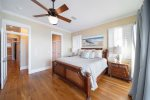 3rd Floor master king suite with private bathroom and balcony access