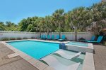 Enjoy Pool Days in the Florida Sunshine with Lounge Chairs, BBQ Grill and Overflow Spa