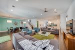 Modern Meets the Coast in this Fun and Funky Living Space, Seamless Open Floor Plan for Max Vacation Mode
