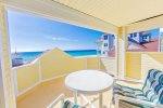 Breathtaking gulf views from this 3rd floor balcony