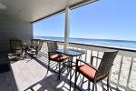 205B private balcony- This photo is taken from the units balcony and is the direct view of the Gulf.