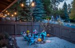 Cozy up to the outside fire pit