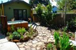 Sequestered gardens and relaxing patio