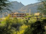 Enjoy wonderful mountain views of the Santa Catalina Mountain Range