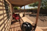Spacious Patio with Seating and BBQ Grill