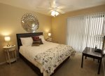 Master suite offers a queen bed
