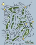 Community map with golf course