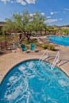 Community spa and pool are part of the amenities you may enjoy