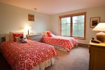 Upstairs twin beds with a private bathroom and gorgeous views from the window