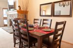 Eat a delicious home cooked meal at the dining room table that seats 6
