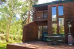 Enjoy your private deck and grill right on Tenmile Creek