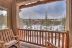 Elk Run Retreat offers breathtaking views from the private balcony