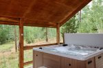 Enjoy soaking in the private hot tub
