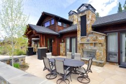 Enjoy the outdoor patio with outdoor gas fireplace and grill.