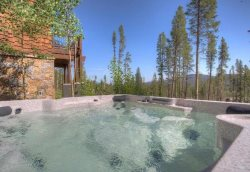 Amazing views as you enjoy your private hot tub.