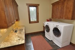 Washer and dryer conviniently right off the kitchen.