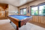 Common area pool table.