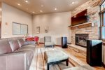 Enjoy the gas fireplace and the large flat screen tv. The living room has a queen sleeper sofa