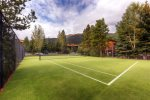 Tennis court located just 50 yards away at Mountainside Condo clubhouse