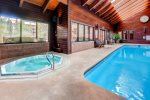 Indoor pool located just 50 yards away at Mountainside Condo clubhouse