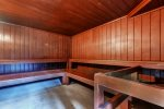 Dry sauna located just 50 yards away at Mountainside Condo clubhouse