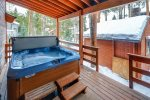 Soak in the private hot tub on the back deck after a great day on the mountain
